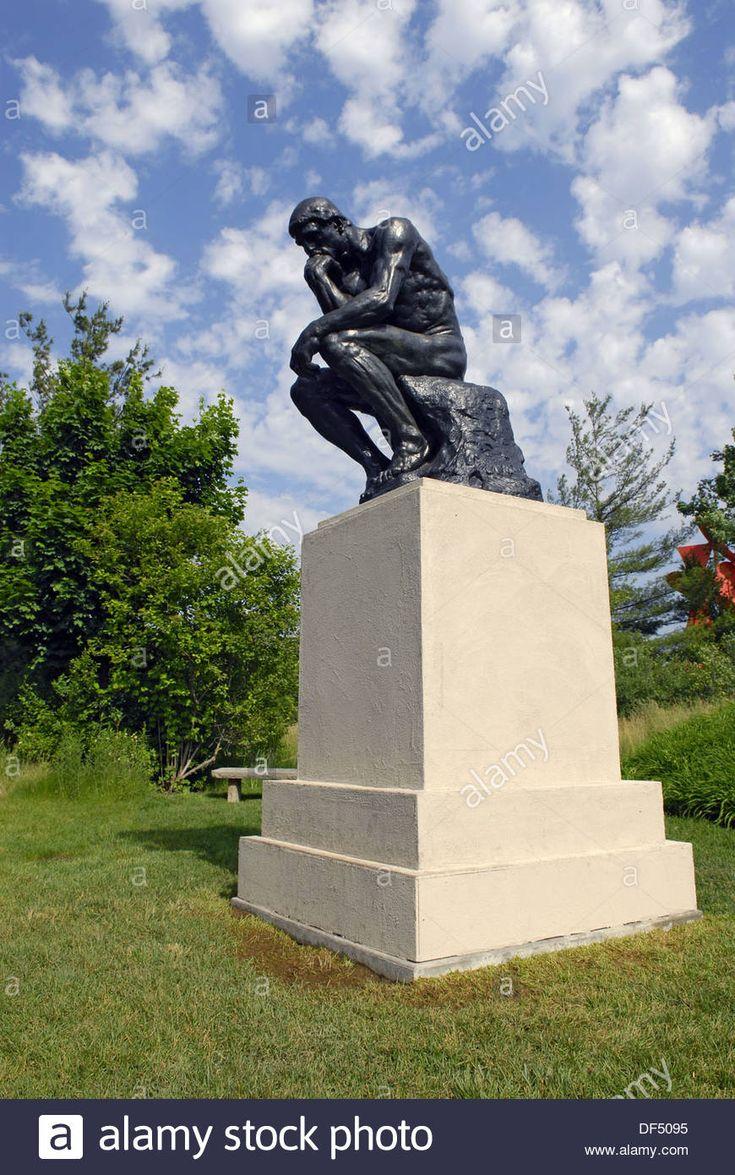 O Pensador 1904 Auguste Rodin En At The Frederik Meijer Gardens And Sculpture Park In Grand
