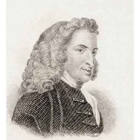 Henry Fielding 1707 To 1754 English Novelist And Dramatist From Crabbs Historical Dictionary Published 1825 Canvas Art - Ken Welsh Design Pics (14 x 15)