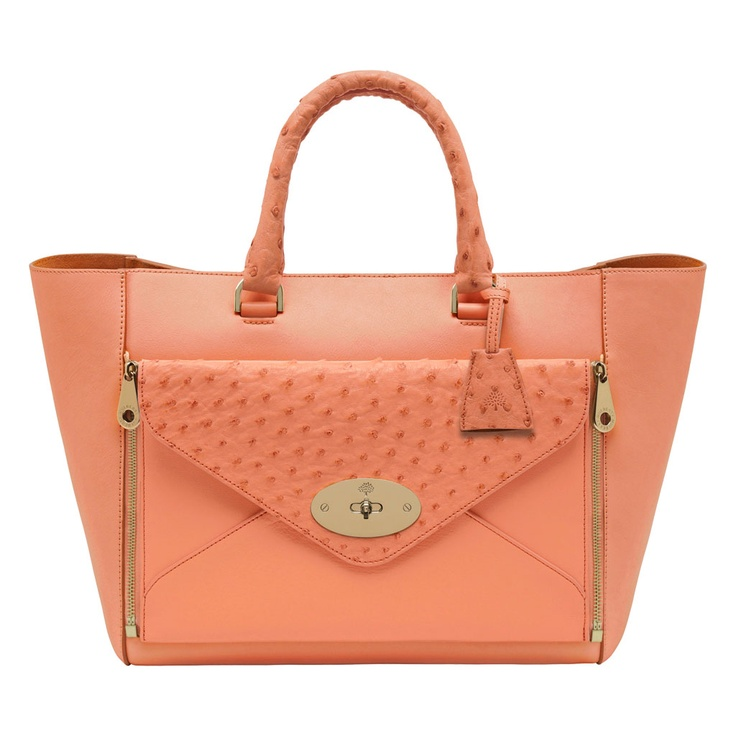 Mulberry Willow Tote in Bright Apricot