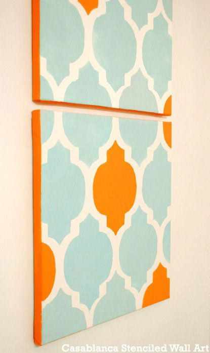 Home Decorating Idea: Stenciled Wall Art