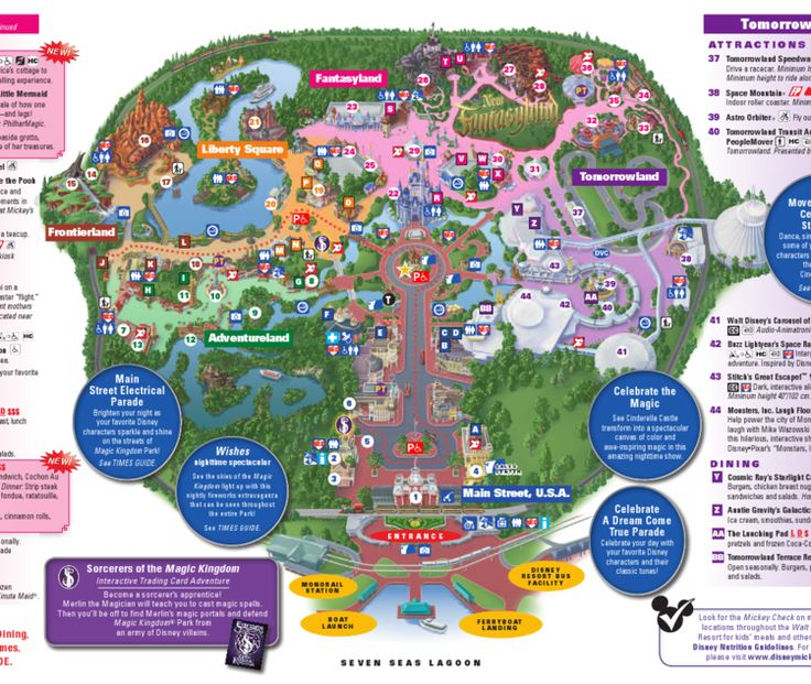 Walt Disney World Family Vacation: Magic Kingdom map