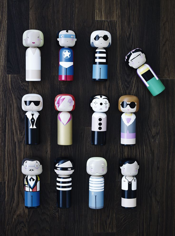 Sketch.inc Kokeshi Dolls  /  Lucie Kaas