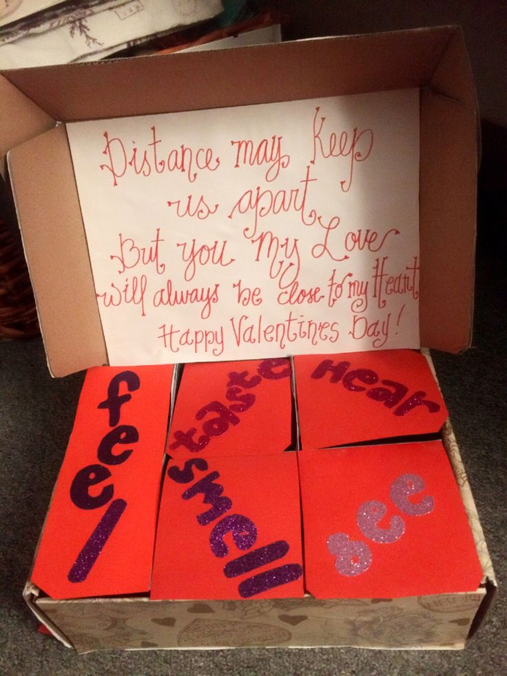 Diy For Valentines Made This 5 Senses Box For Bf Think Of Cool