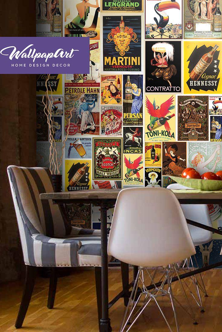 36 boho wallpaper vintage wall mural modern design vintage poster 62 homedecor decor interiordesign coolbedding wallpapart
