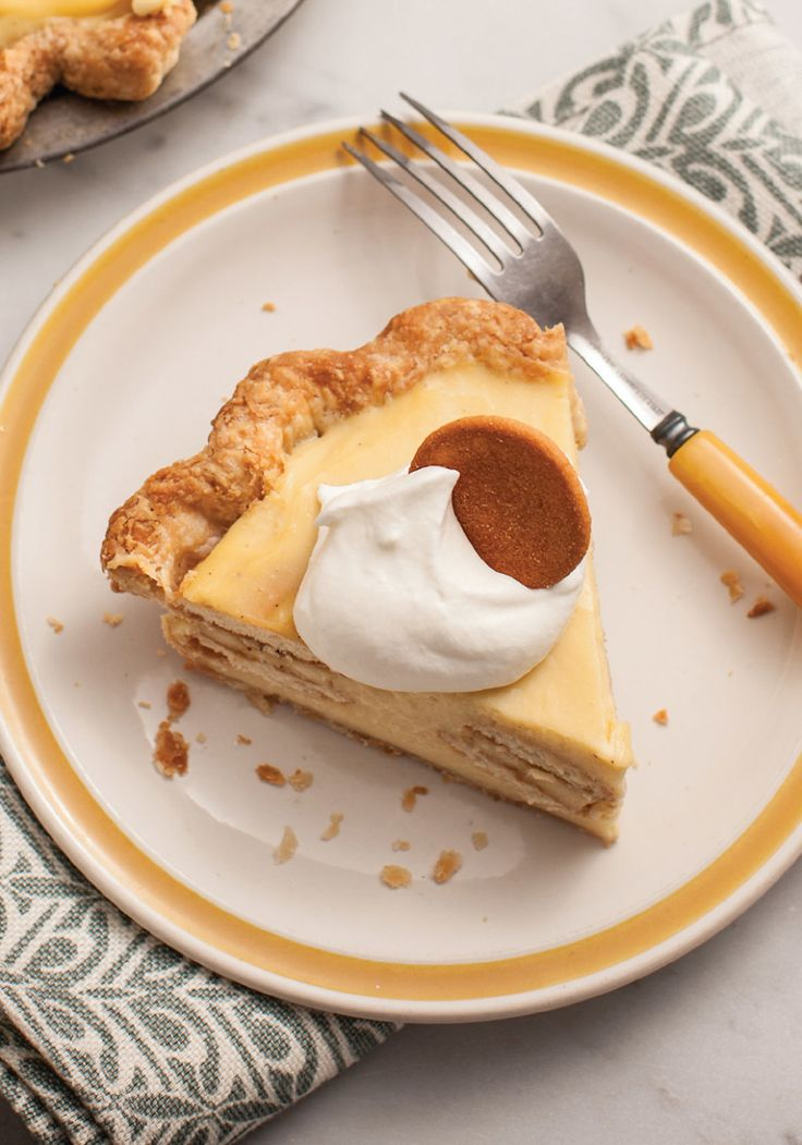 Banana-Nilla Pudding Pie || Banana pudding and banana cream pie are both classic comfort foods, but we had no idea how well they went together until we tried this twist from Magpie: Sweets and Savories from Philadelphia's Favorite Pie Boutique by Holly Ricciardi. The recipe has you spread banana-pudding filling into the pie shell; top it with a layer of Nilla Wafers and banana slices, then cover them with more pudding, so you get a perfect ratio of creamy to crunchy.