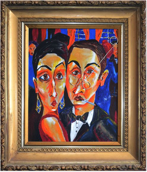 Painting of a Snobby Socialite couple