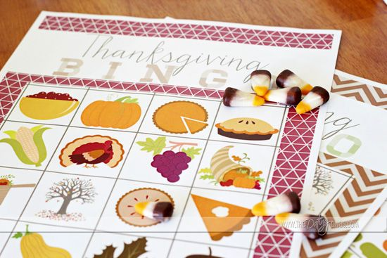 Free Thanksgiving bingo cards! My kids will have such a blast with this!!