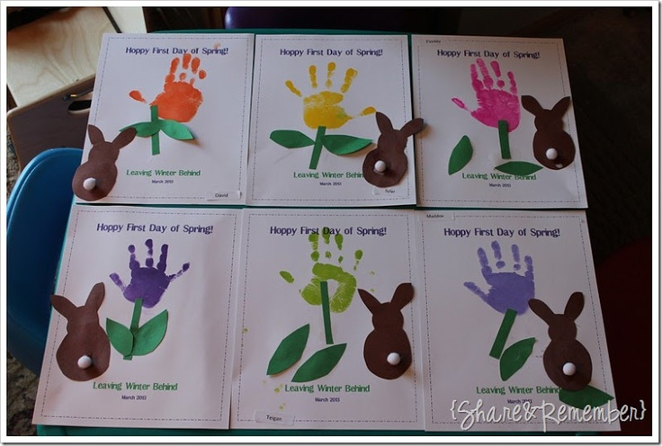 FIrst Day of Spring Handprint