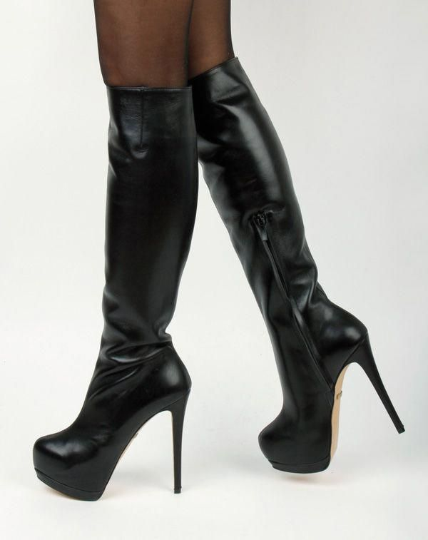 080f63faaee50  Highheelboots Leather High Heels