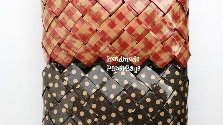 Handmade handbags made of paper