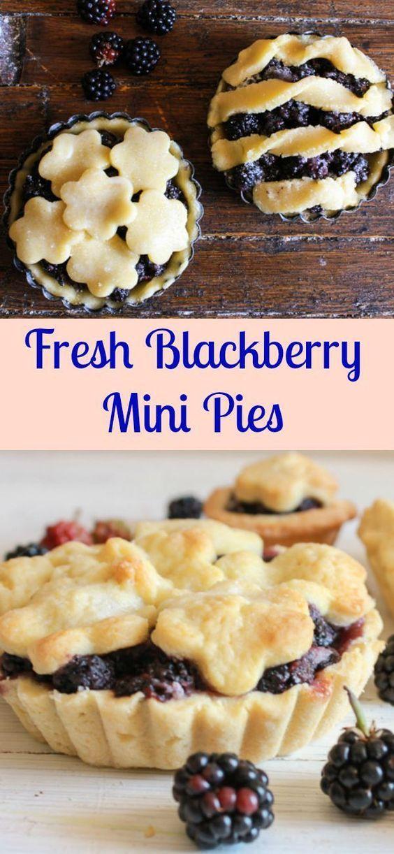 Fresh Blackberry Mini Pies an easy homemade fresh blackberry pie recipe. The…