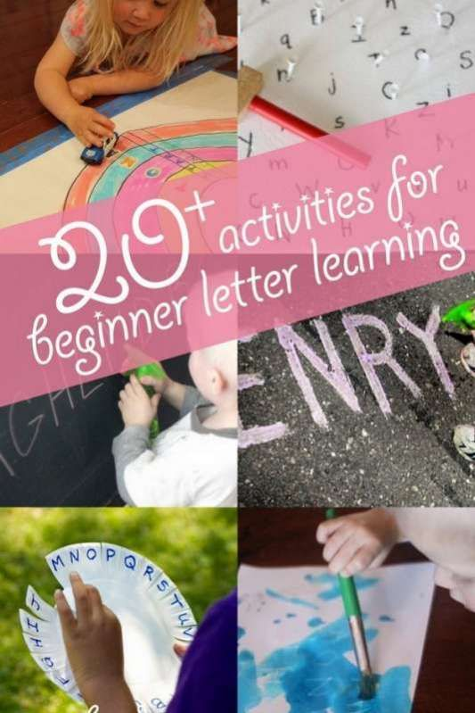 20+ Activities to Start Learning Letters via @handsonaswegrow