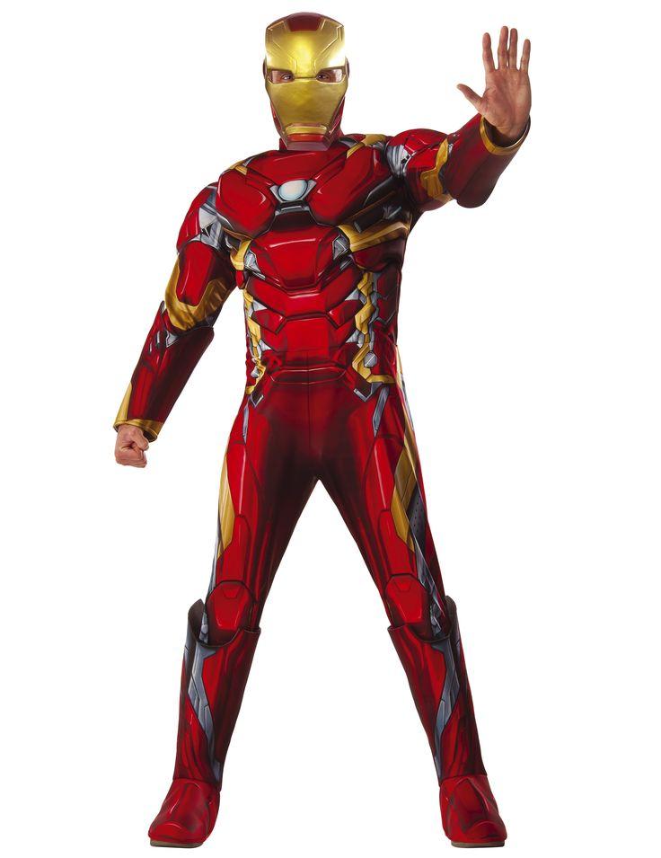 Dit luxe Iron Man™ Civil War kostuum voor volwassenen zal ideaal zijn als carnavalskleding om een bekende superheld te worden! - Nu verkrijgbaar op Vegaoo.nl
