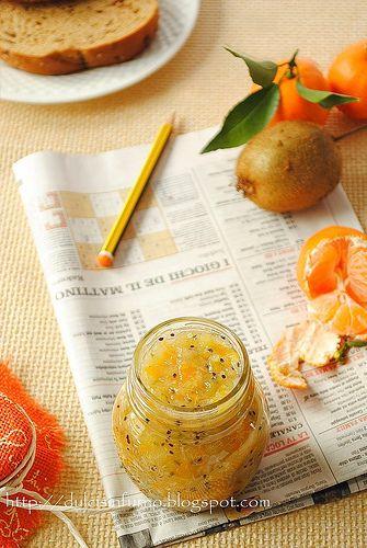 Marmellata di Kiwi e Mandarini-Kiwi and Tangerine Jam