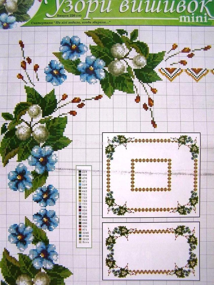 Cross Stitch Ukrainian Embroidery Flower Patterns Tablecloth Pillow Napkin 7 UZ   eBay