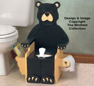 Winfield KF 17 Black Bear potty Chair wood kid Childern wood furniture pattern