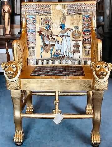 King Tut's Golden Throne