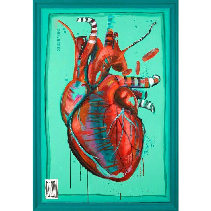 art streetart wojciech brewka tattoo heart
