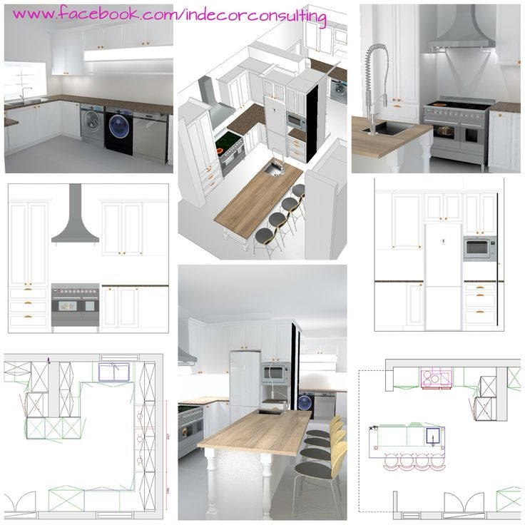 3D drawings done for a proposed kitchen renovation