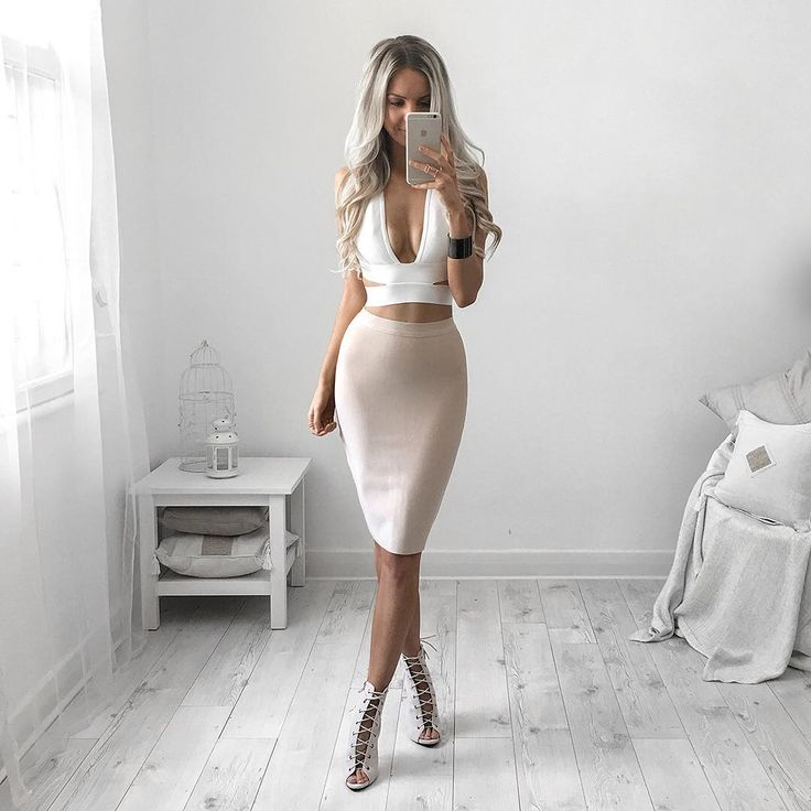 All White Everythangg ➸ via: Hot Miami Styles on Kirsty Fleming ♡♥♡♥♡♥