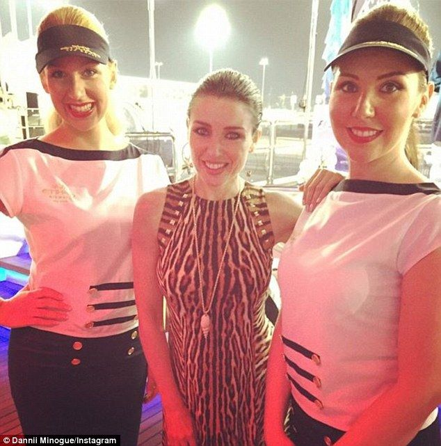 Dannii Minogue at the Abu Dhabi GP  #AbuDhabiVIPhosptitality