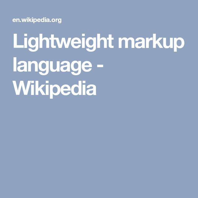 Lightweight markup language - Wikipedia