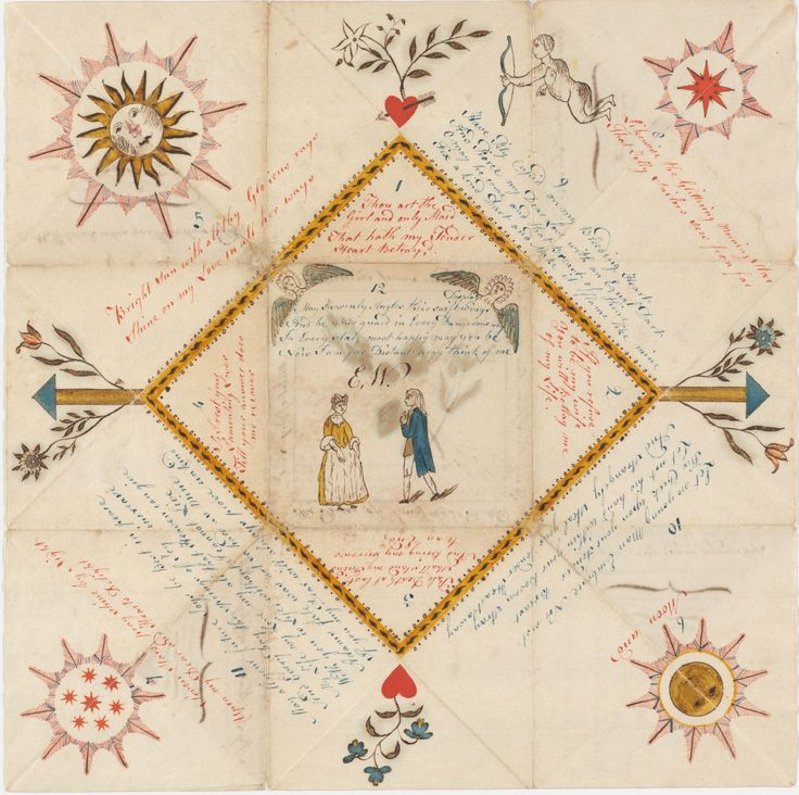Late 18th Century Puzzle Purse Love Token (recto), Houghton Library, Harvard.