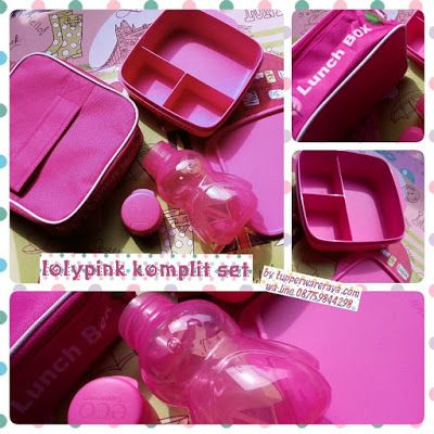 Promo Tupperware Lolly Pink Komplit