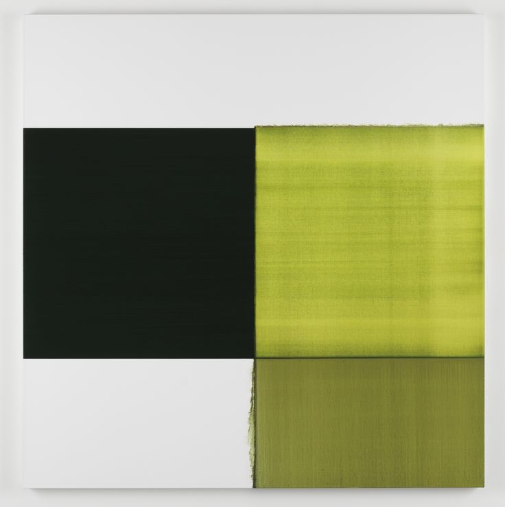 Callum Innes, Exposed Painting Green Lake, 2012, Oil on linen.Oil on linen, 205 x 200cm, Courtesy Frith Street Gallery, London