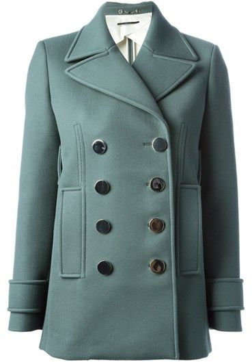 GUCCI - Metal button peacoat#alducadaosta #newarrivals #sixties #fever #trend #women #apparel #accessories #prints #colors #classy #style #fashion #fallwinter #fall #winter #collection #gucci