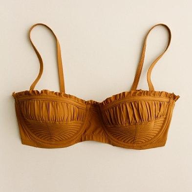 mustard bikini top. fun!