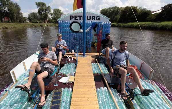 Plastic bottle boat by Jan Kara & Jakub Bures