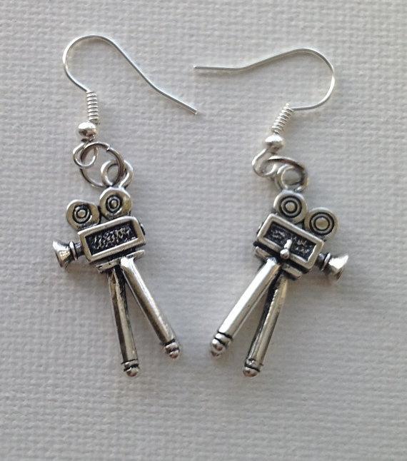 Film Camera Earrings by Mogglepops on Etsy, €4.99