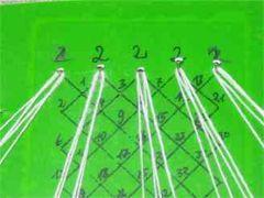 Klöppeln lernen - Löcherschlag