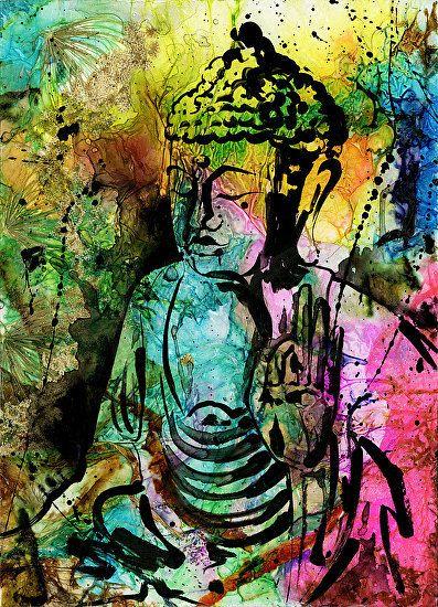 Buddha Love No. 11 by Kathy Morton Stanion. kathymortonstanion.com #kathymortonstanion #abstractart #homedecor