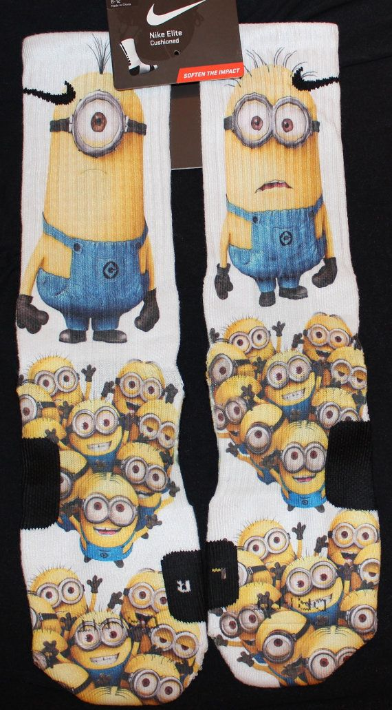 Despicable Me Custom Nike Elite Socks by LuxuryElites on Etsy, $33.99