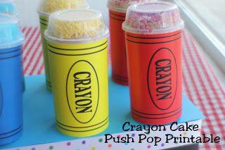 Kims Kandy Kreations: Crayon Cake Push Pop Printable
