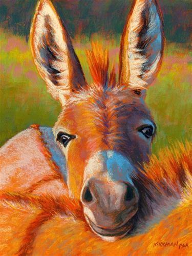 """Peek-A-Burro II, and Workshop!"" - Original Fine Art for Sale - © Rita Kirkman"