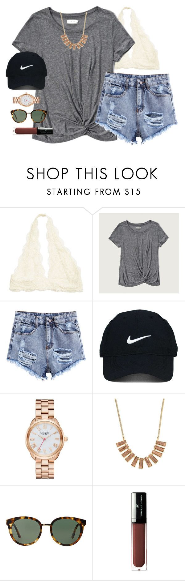 """cool for the summer"" by emmig02 ❤ liked on Polyvore featuring Abercrombie & Fitch, Nike Golf, Kate Spade, Kendra Scott, Tory Burch and Vincent Longo"