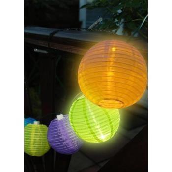 Slinger Chinese lampions - solar voor een sfeervolle verlichting van het balkon, tuin of terras