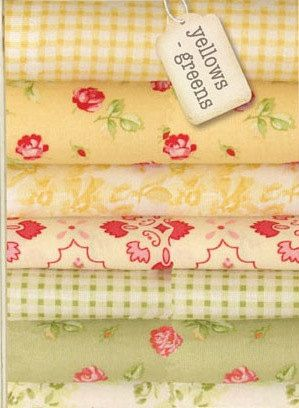 Hill Farm Yellow & Green Fat Quarter Bundle Quilting Fabric