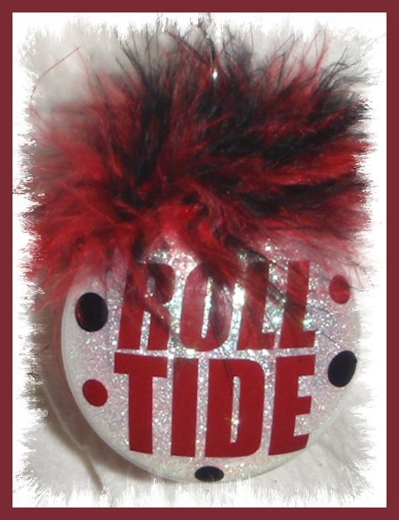 Personalized Roll Tide Glitter Ornament