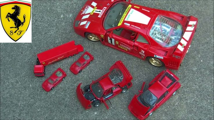 Ferrari model cars various sizes scales big ones and little ones Ferrari testarossa and Ferrari F40 cars by Burago, Revell & Herpa link to buy this or simila...