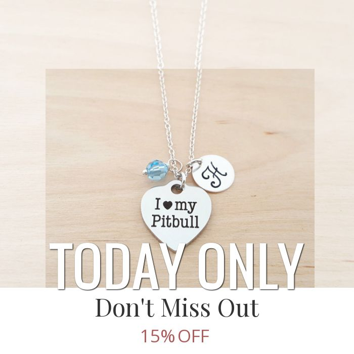 Today Only! 15% OFF this item.  Follow us on Pinterest to be the first to see our exciting Daily Deals. Today's Product: Sale -  I Love My Pitbull Necklace - Swarovski Birthstone - Custom Initial - Personalized Sterling Silver Necklace / Gift for Her - Dog Owne Buy now: https://www.etsy.com/listing/250628271?utm_source=Pinterest&utm_medium=Orangetwig_Marketing&utm_campaign=Daily%20Deal   #etsy #etsyseller #etsyshop #etsylove #etsyfinds #etsygifts #musthave #loveit #instacool #shop #shopping…