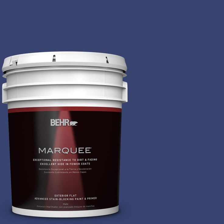 BEHR MARQUEE 5 gal. #T18-18 Constellation Blue Flat Exterior Paint