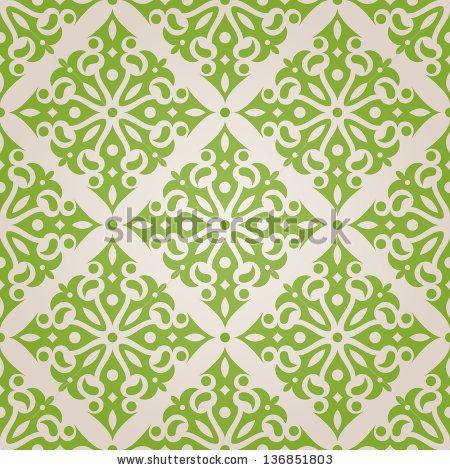 Green seamless wallpaper. - stock photo