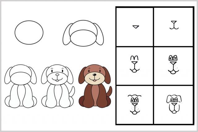 Techniques faciles pour apprendre à dessiner #enfants #chien