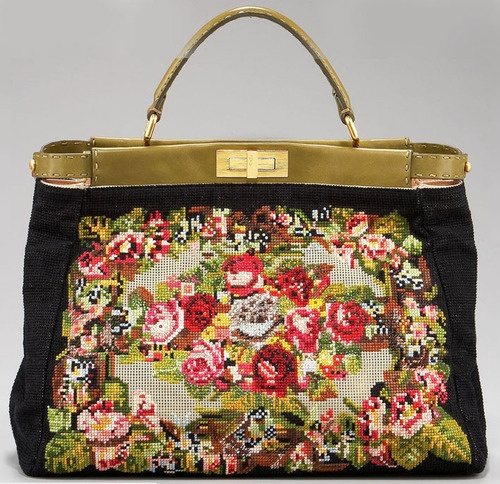 Fendi Arazzo Needlepoint Peek-a-Boo Bag