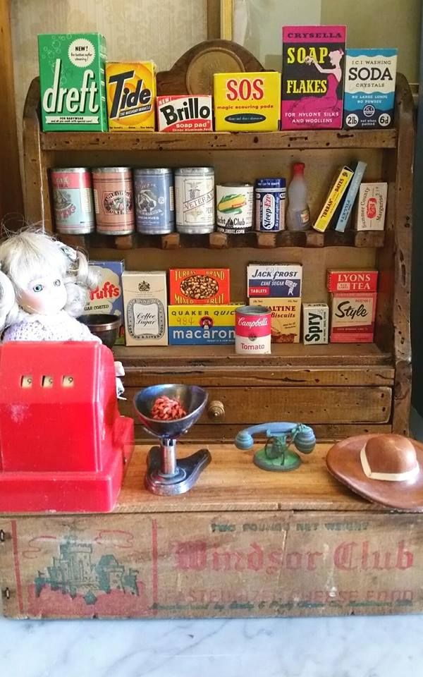 Vintage Kiddicraft Grocery Collection I Have Them Arranged Like