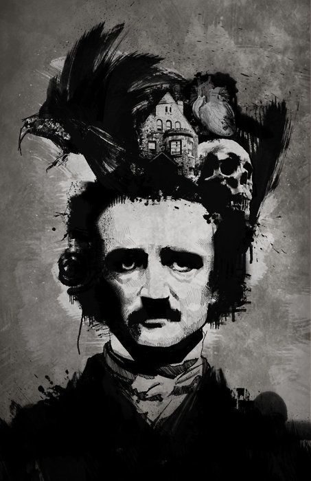 """I will never forget the amazingly judge mental look I got in 3rd grade when I responded """"Edgar Allen Poe"""" to the question """"who is your favorite author?"""" Here's to keeping it honest and weird for a life time and beautiful macabre words."""